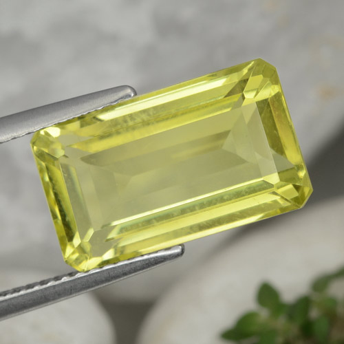 Lemon Yellow Cuarzo Gema - 6.9ct Corte octagonal (ID: 473014)