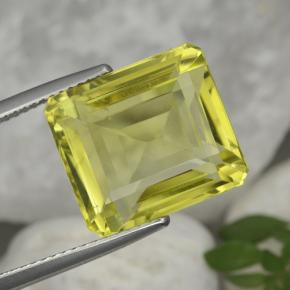 Medium Yellow Quartz Gem - 12.4ct Octagon Step Cut (ID: 473017)