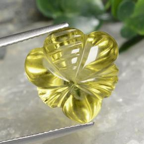 Lemon Quartz Gem - 10.6ct Fantasy Carved Leaf (ID: 474627)