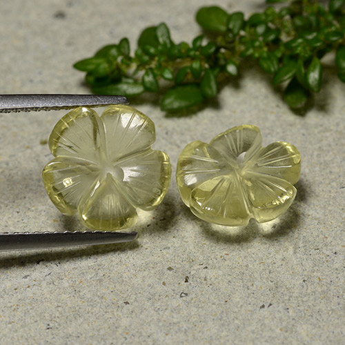 3.1ct Carved Flower Yellow Golden Quartz Gem (ID: 485457)