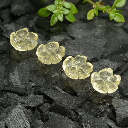 thumb image of 4.5ct Carved Flower Lemon Quartz (ID: 485568)
