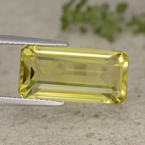 Light Pineapple Yellow Cuarzo Gema - 10.2ct Corte octagonal (ID: 490962)