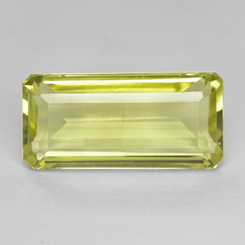 Light Corn Yellow Cuarzo Gema - 8.8ct Corte octagonal (ID: 490967)