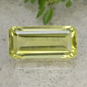 53 Carat Octagon Emerald Cut 159x74 Mm Yellow Quartz Gemstone