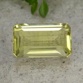 Medium Yellow Quartz Gem - 6.6ct Octagon Step Cut (ID: 491118)