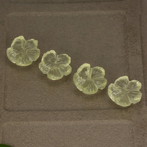 Lemon Quartz Gem - 0.9ct Fantasy Carved Flower (ID: 497010)