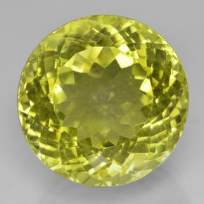 40.1ct Round Facet Lemon Quartz Gem (ID: 503901)