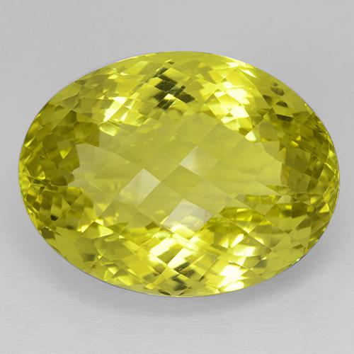 Medium Yellow Quarz Edelstein - 59.7ct Oval Schachbrett (ID: 508847)