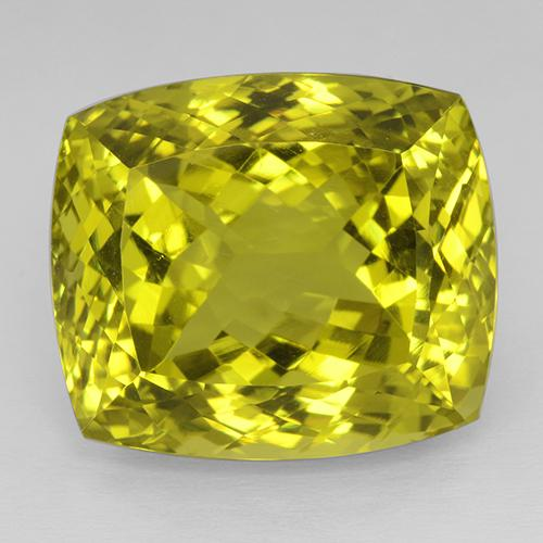 Vivid Yellow Quarzo Gem - 53.5ct Taglio a cuscino (ID: 508853)