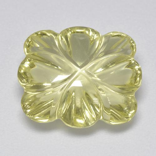 Lemon Quartz Gem - 6.9ct Carved Flower (ID: 515516)