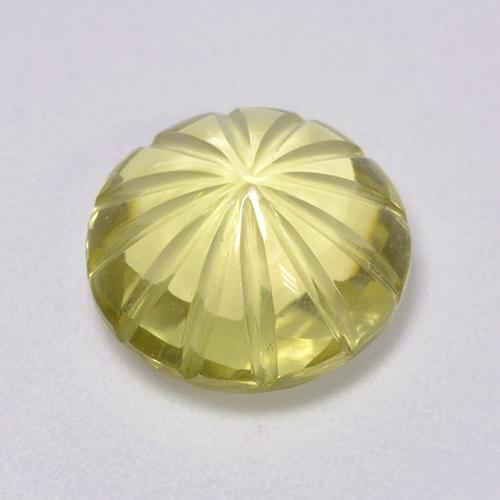 Lemon Quartz Gem - 4.2ct Carved Flower (ID: 516370)
