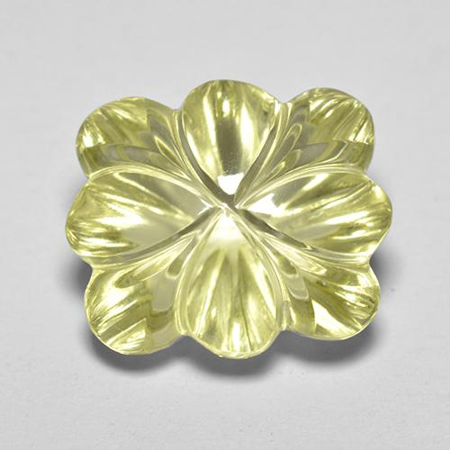 Medium-Light Yellow Cuarzo Gema - 8.4ct Flor tallada (ID: 517783)