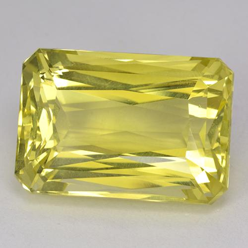 Bumblebee Yellow Quartz Gem - 29.5ct Octagon / Scissor Cut (ID: 518738)