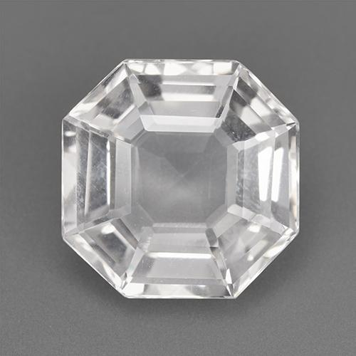 White Quartz Gem - 10.1ct Hexagon Cut (ID: 518842)