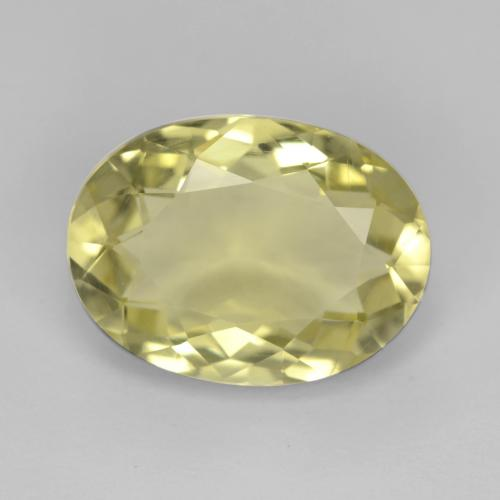 Medium-Light Yellow Cuarzo Gema - 4.7ct Forma ovalada (ID: 540293)