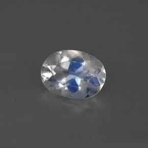 Buy 1.08 ct Blue White Rainbow Moonstone 8.10 mm x 5.9 mm from GemSelect (Product ID: 291758)