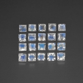 thumb image of 3.3ct Square Facet Blue White Rainbow Moonstone (ID: 297889)