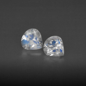 Buy 0.80ct Blue White Rainbow Moonstone 5.18mm x 4.94mm from GemSelect (Product ID: 298918)
