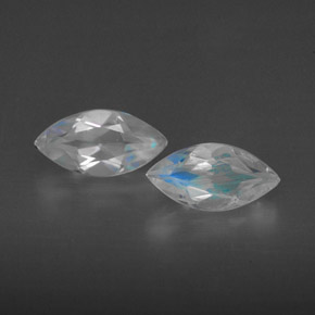 Buy 0.97 ct Blue White Rainbow Moonstone 7.91 mm x 4 mm from GemSelect (Product ID: 301213)