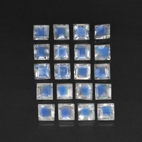 Buy 3.39 ct Blue White Rainbow Moonstone 3.09 mm x 3.1 mm from GemSelect (Product ID: 305333)