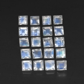 Buy 3.40ct Blue White Rainbow Moonstone 3.06mm x 2.99mm from GemSelect (Product ID: 306913)