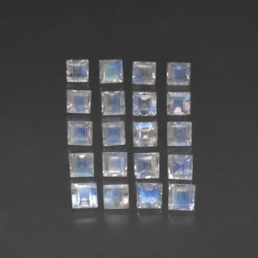 Buy 3.80 ct Blue White Rainbow Moonstone 3.10 mm x 3.1 mm from GemSelect (Product ID: 315571)