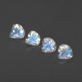 Blue White Rainbow Moonstone Gem - 0.3ct Pear Facet (ID: 339061)