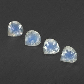 Blue White Rainbow Moonstone Gem - 0.3ct Pear Facet (ID: 339360)