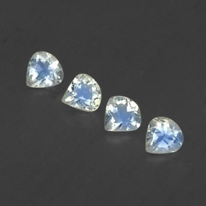 White Blue Rainbow Moonstone Gem - 0.3ct Pear Facet (ID: 339366)