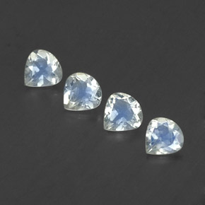 Blue White Rainbow Moonstone Gem - 0.3ct Pear Facet (ID: 339367)