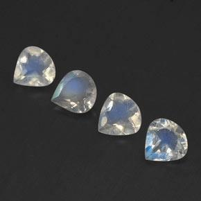 Buy 1.15 ct Blue White Rainbow Moonstone 5.02 mm x 5 mm from GemSelect (Product ID: 339660)