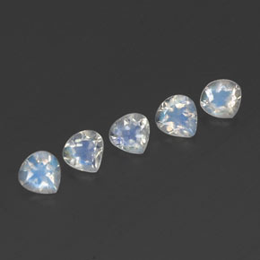 Bluish White Rainbow Moonstone Gem - 0.3ct Pear Facet (ID: 341157)