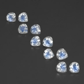 Bluish White Rainbow Moonstone Gem - 0.4ct Pear Facet (ID: 350707)