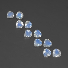 Bluish White Rainbow Moonstone Gem - 0.3ct Pear Facet (ID: 351753)