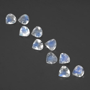 Bluish White Rainbow Moonstone Gem - 0.3ct Pear Facet (ID: 351815)