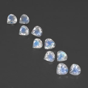 Bluish White Rainbow Moonstone Gem - 0.3ct Pear Facet (ID: 351817)