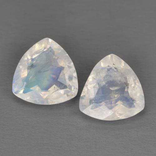 Rainbow Moonstone Gemstone Nice Blue Sheen Over the Surface Price per 3 pieces. Good Quality Size 4x3 MM Oval Cabochons