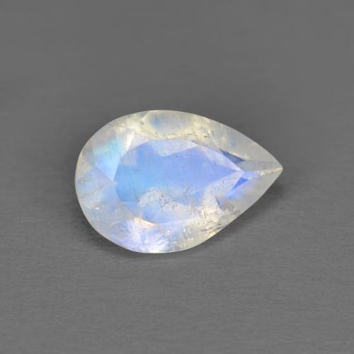 Rainbow Moonstone Natural Rainbow Moonstone Cabochon Rainbow Moonstone Gemstone Moonstone Pear Size 16 x 25 mm ET 3842 Rainbow Moonstone