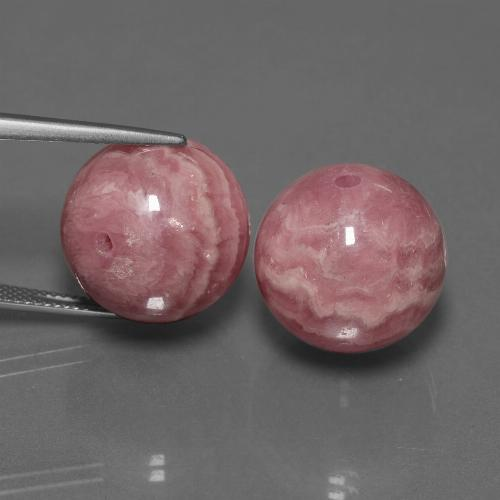 Multicolor Rhodochrosite Gem - 37.1ct Drilled Sphere (ID: 447529)