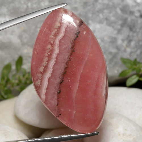 Multicolor Rhodochrosite Gem - 36.5ct Fancy Cabochon (ID: 472612)