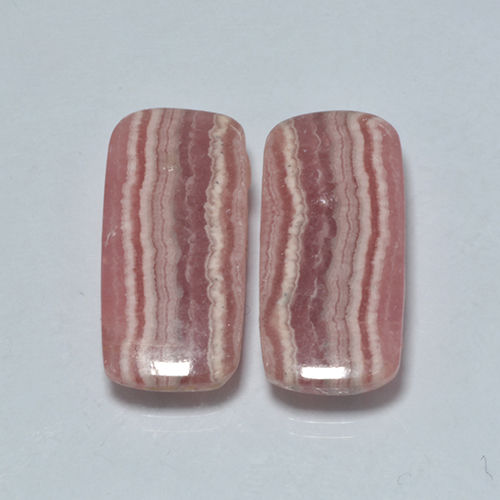 Multicolor Rhodochrosite Gem - 9.9ct Cushion Cabochon (ID: 503355)