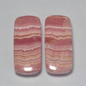 Multicolor Rhodochrosite Gem - 13.3ct Cushion Cabochon (ID: 503361)