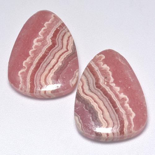 Multi Rose Pink Rhodochrosite Gem - 13.7ct Pear Cabochon (ID: 516199)