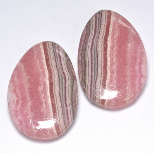 Multi Rose Pink Rhodochrosite Gem - 18.8ct Pear Cabochon (ID: 516200)