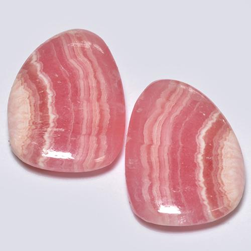 Multi Rose Pink Rhodochrosite Gem - 6.6ct Pear Cabochon (ID: 516646)