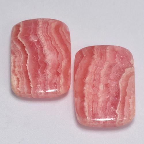 Multicolor Rhodochrosite Gem - 6.7ct Cushion Cabochon (ID: 517460)