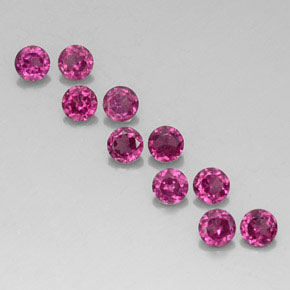 2.34 ct total Natural Raspberry Red Rhodolite Garnet