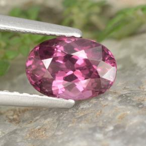 thumb image of 1.6ct Oval Facet Raspberry Red Rhodolite Garnet (ID: 355951)