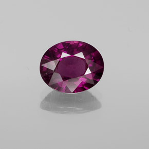 Raspberry Red Rhodolite Garnet Gem - 2.4ct Oval Facet (ID: 357627)