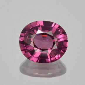 thumb image of 1.6ct Oval Facet Raspberry Red Rhodolite Garnet (ID: 365516)
